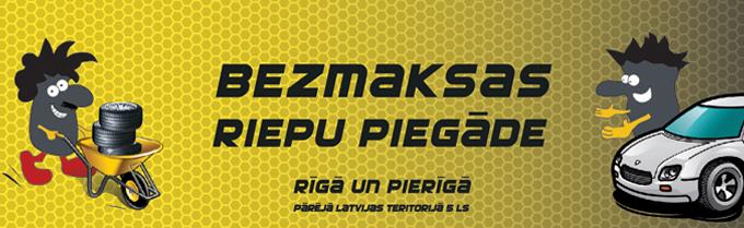 riepas ar bezmaksas piegādi Rīgā